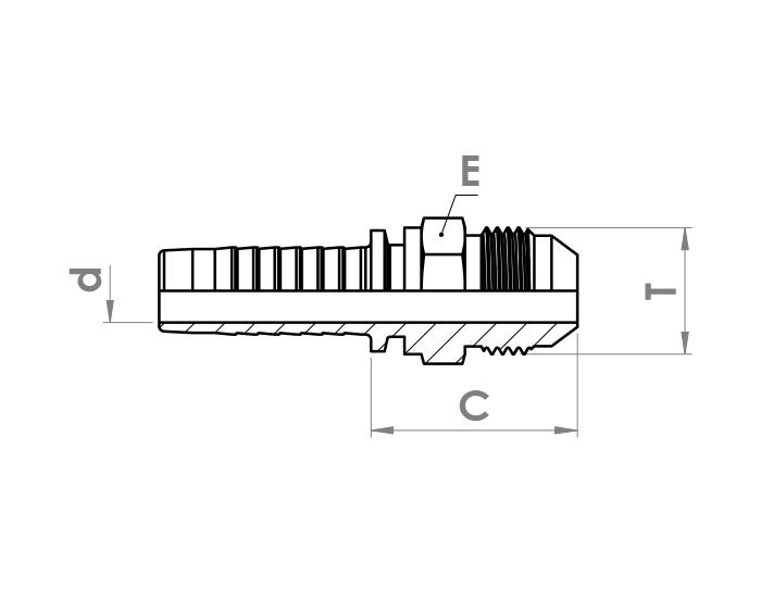 سرشیلنگ هیدرولیک مهره دار ZEC مدل AGJ