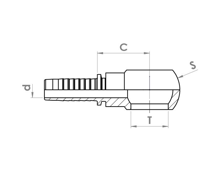 اتصالات سرشیلنگ سر حلقه هیدرولیک