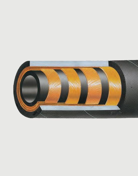 شیلنگ هیدرولیک فشار قوی 4 لایه استیل PS_4SP391P