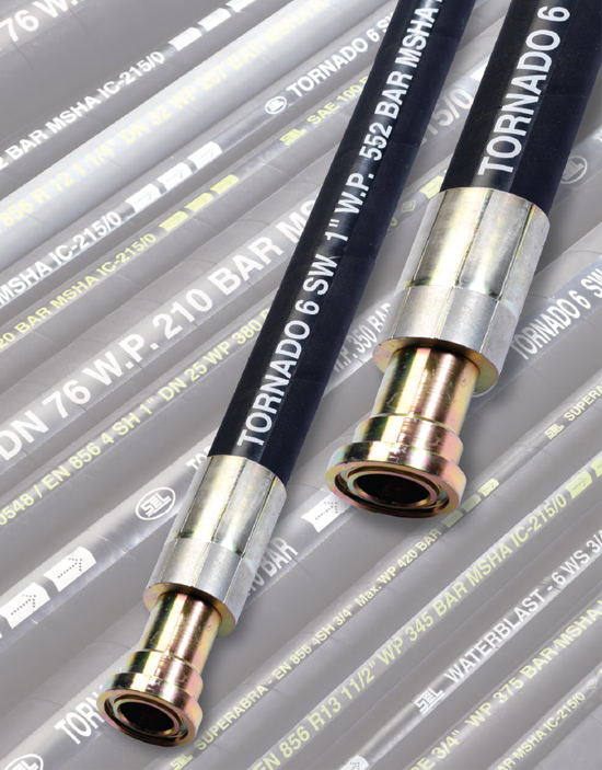 شیلنگ هیدرولیک فشار قوی 6 لایه استیل TOR_HWS39T